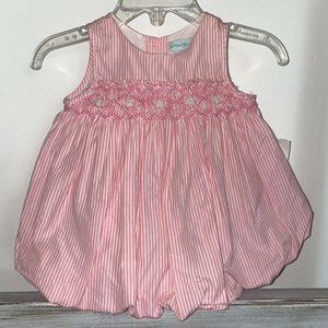 Other - Girl Pink Striped Smocked Dress